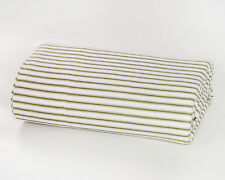 Sage Striped Flannel PILLOWCASES by DELANNA 100% Cotton Standard Size Set of 2