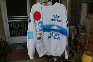 Vintage 80's Adidas sweat shirt Olympic Sapporo 72 size XL/XXL
