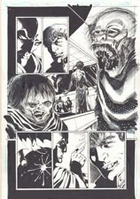 Batman Undead #1 p.15 - Batman and Ghouls - Signed art by Tom Mandrake Comic Art