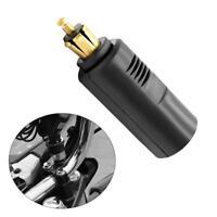 12V European Plug Motorcycle DIN Socket to Cigarette Lighter Adapter Converter