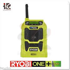 110V Ryobi P742 18-Volt ONE+ Compact Radio with Bluetooth Wireless Technology