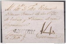 O) 1801 EL SALVADOR, S. VICENTE BLACK MARK, FRONT LETTER TO GUATEMALA,  XF RRR