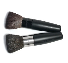MARY KAY MINERAL POWDER FOUNDATION BRUSH~LOT OF 2~NIP~FLAT KABUKI MAKEUP BRUSH!