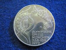 1972 J Germany Silver 10 Mark Olympic Commemorative - BU - Free U S Shipping