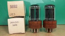 Pair of CBS JAN CHY 5692 NOS NIB Brown Base Vacuum Tubes - 9% matched