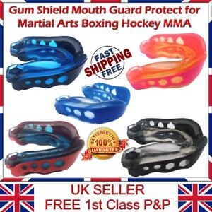 Youth Junior Gum Shield Mouth Guard Protect for Martial Arts Boxing Hockey MMA