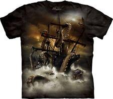 The Mountain Kraken Fantasy Adult 2xl Unisex Black T Shirt