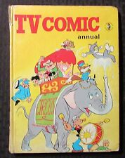 1973 TV COMIC ANNUAL Hardcover GD+ 2.5 UK Tom & Jerry Popeye
