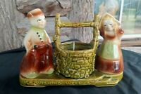 Vintage Shawnee Pottery USA 710 Dutch Couple BOY GIRL Wishing Well Planter