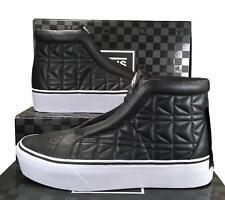 Vans x Karl Lagerfeld Sk8-Hi Laceless Platform Sneakers Quilted Leather BLACK