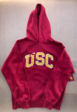 Vintage USC Trojans Athletic Apparel Hooded Sweatshirt Hoodie Large NEW