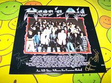 Very Rare - Hear `n Aid Autographed Record Album - Ronnie James Dio - 1985