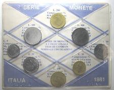 *TRIU* REPUBBLICA ITALIANA SERIE 1981 (8 MONETE) FDC in confezione sigillata
