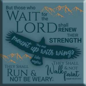 Eagles Wings Fridge Magnet Ideal Christian Gift Men Birthday Christmas Bible