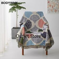 Multifunctional Sofa Towel Couch Cover Antislip Bedspread Knitted Thread Blanket
