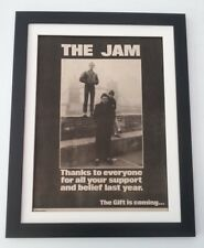 More details for the jam 'thanks' 1982*original*poster*ad*framed*fast world ship