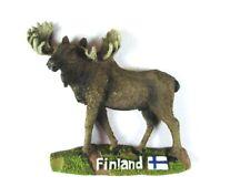 Elch Finnland Moose Poly Magnet,Finland Skandinavien,Neu