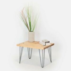 Coffee Table Industrial Wood [With Hairpin Legs]
