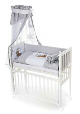 Beistellbett Babybett 90x40 höhenverstellbar Bettset MONDBÄR GRAU mit Matratze