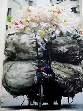 Important Rare Orig Chinese Color Photograph Shanghai China 2005 Signed Wang