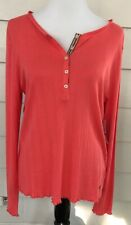 Tommy Hilfiger Coral 1/4 Button Down Thermal Top XL Fits Large New NWT