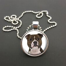 """Staffie Pendant On 18"""" (Or Any Size) Ball Chain Necklace Birthday Gift N68"""
