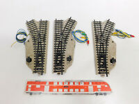 CN823-0,5# 3x Märklin H0/AC E-Weiche (M-Gleis) geprüft: 5118 + 5119, sehr gut