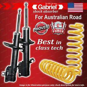 Front Gabriel Ultra Shocks + Raised King Coil Springs for Nissan X-Trail T31