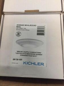 Kichler Lighting 43846 WHLED30 Signature Flush Mount White LED, 3000K, 15W (NEW)