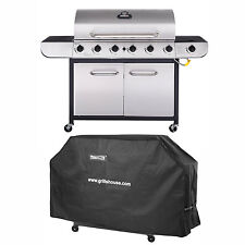 Royal Gourmet Classic 6-Burner LP Gas Grill with Sear Burner with Cover