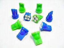 10 Chevy Blue Green Blinker Hi Beam Lense LED Light Bulb Lamp T10 Wedge 194 NOS