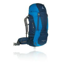 Deuter Mens Aircontact 68 Backpack Blue Sports Outdoors Breathable Pockets Zip