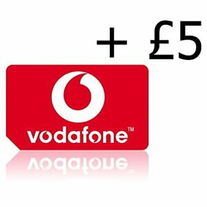 VODAPHONE SIM CARD | Pay as you go with £5 credit Preloaded, all Phones