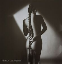 """Jeanloup Sieff """"Nude With Plait, Paris"""" 1985, Glossy Photo Litho Poster"""