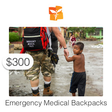 $300 Charitable Donation For: Emergency Medical Backpacks