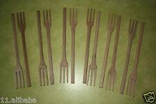lot de 12 fourchettes en bois cuisine