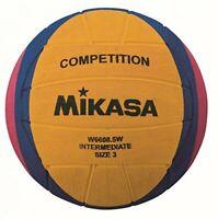 Mikasa W6608.5W competition intermediate water polo ball, size 3, yellow, purple