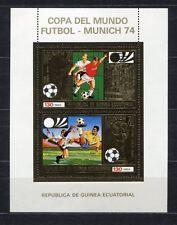 s5174) GUINEA EC. 1974 MNH** WC Football -CM Calcio S/S GOLD WINNERS