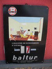 BALTUR Calendario Perpetuo Litografato ORIGINALE 1960 Tabella Pubblicitaria