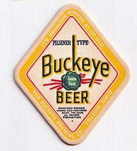 1935 BUCKEYE BREWING CO, TOLEDO, OHIO BUCKEYE KRAEUSEN BEER COASTER