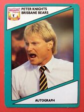 1988 Scanlens Stimorol VFL Trading Card 122 Peter Knights Coach Brisbane Bears