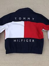 Vintage Tommy Hilfiger Big Flag Logo Spell Out Reversible Jacket Snow Beach L