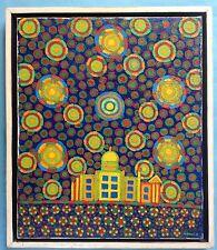 3v3:Popart Ölgemälde Psychedelic Art Flower-Power Hippie Ludwig Sohler 1974