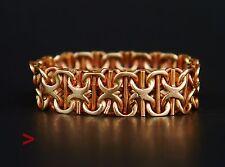 Antique Men Unisex  X-links Ring solid 14K Gold Size 12 US / 3.9 gr