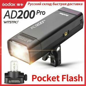 Godox AD200Pro Outdoor Flash Light 200Ws TTL 2.4G 1/8000 HSS Strobe Flash Light