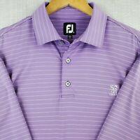 FOOTJOY Size XL Mens Golf Polo Shirt Lavender Stretchy Brethable Short Sleeve FJ