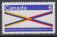 CANADA #505 6¢ Manitoba Centennial Mint Never Hinged
