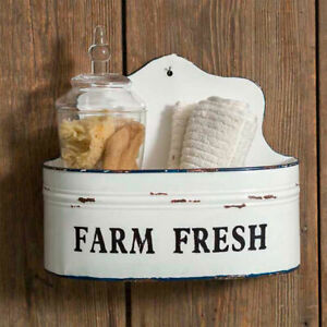 Farm House new Wall Caddy in White Tin