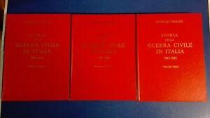 Giorgio Pisanò STORIA DELLA GUERRA CIVILE IN ITALIA 1943 1945 3 volumi COMPLETA