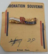 1953 Queen Elizabeth II Coronation Enameled Pin Bin 6